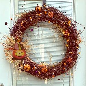 Halloween primitive wreath